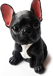 MONLIYA High Emulation Resin Creative Cute French Bull Dog Garden Statue Crafts Dog Lover Gift Sculpture Patio Lawn Courty...