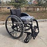 ZJN-JN Silla de Ruedas Precio de fábrica Venta Directa de Alto Costo de Alto Costo doblado Manual para discapacitados/Deportes Silla de Ruedas (Color : Black)