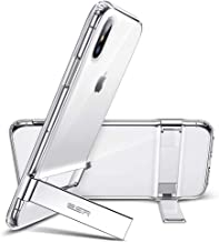 ESR Metal Kickstand Case for iPhone Xs Max, [Vertical and Horizontal Stand] [Reinforced Drop Protection] Flexible Soft TPU for iPhone 6.5 inch(2018)(Jelly Clear)
