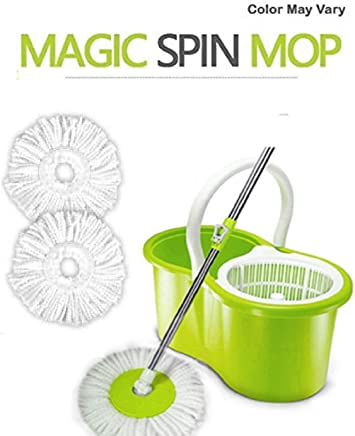 KEVAY P323 Aqua 360° Spin Mop Bucket with 2 Refills (Green)
