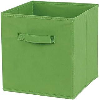 1 Pc Tissu Panier Bin Boîtes De Rangement De Rangement Pliable Cubes Organisateur avec Poignées -Green