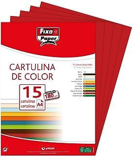 Fixo 11110656Lot de 15feuilles de papier cartonné A4 Rouge carmin