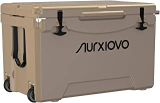 Nurxiovo Heavy Duty Cooler and Ice Chest with Wheels 75QT Keeps Ice up to 7 Days Roto-Molded Coolers Ideal for Camping, Hi...