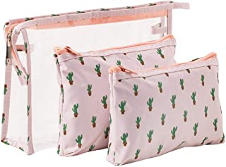 Transparent cosmetic bag travel transparent makeup storage bag ladies essential supplies makeup utensils fish scale makeup bag-Ivory-