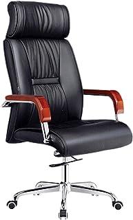 Silla oficina ergonomica Silla De Estudio Silla de oficina para trabajo pesado, silla ergonómica para juegos de escritorio de cuero PU, Asiento giratorio para computadora ejecutiva, altura ajustabl