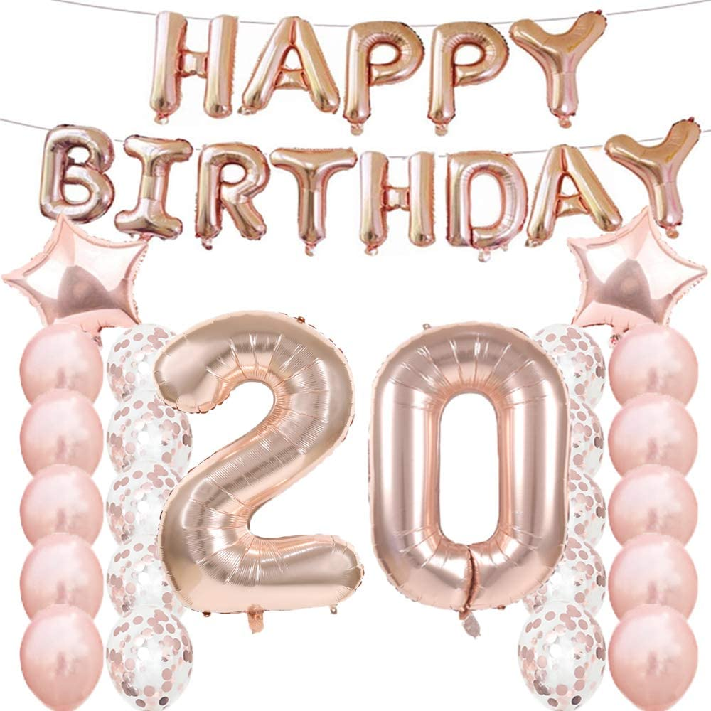 Buy 20th Birthday Decorations Party Supplies, 20th Birthday ...