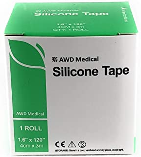 "Medical Grade Silicone Gel Tape – 1.6"" x 120"" Scar Removal Tape with Silicone Gel Sheeting - Easy Removal Hypoallergenic and Soft Silicone Tape"