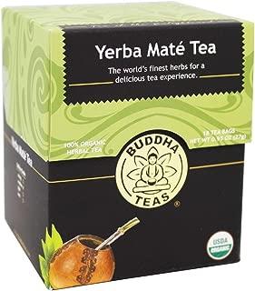 Organic Yerba Mate Tea - Energizing Tea - Contains Caffeine - 18 Bleach-Free Tea Bags