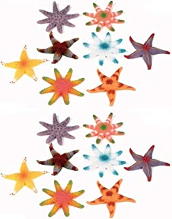 HAPPY DEALS ~ Set of 24 - Plastic Toy Starfish - Ocean and sea Life Toys and Novelties