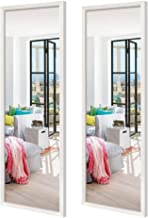 Schliersee 14x48 inch Full Length Mirrors Wall Mounted Rectangular White Framed Wall Mirror Set for Bathroom, Living Room,...