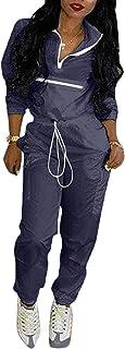 ملابس رياضية للنساء 2 قطعة بدلة رياضية خفيفة الوزن سترة سترة كروب توب سراويل مجموعة