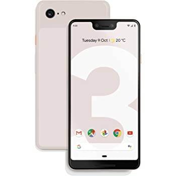 "Google Pixel 3 (2018) G013A 64GB - 5.5"" inch - Android 9 Pie - (GSM Only, No CDMA) Factory Unlocked 4G/LTE Smartphone - International Version (Not Pink)"