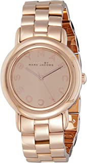 Marc by Marc Jacobs Women's Rose Gold Dial Stainless Steel Band Watch - MBM3099