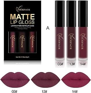 WensLTD 3PCS/Set Waterproof Matte Liquid Lipstick Cosmetic Sexy Lip Gloss Kit