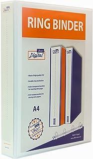 Digital A4 Ring Binder, 2 Ring D-Shaped, 6 cm - White