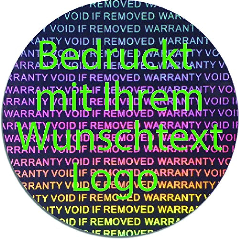 EtikettenWorld BV, EW-H-3000-SI-tg-700, 700 Stück Hologrammaufkleber, 2D, 40mm rund silberfarbige Metallfolie, bedruckt in grün mit Ihrem Wunschtext Logo, Hologramm Etiketten, selbstklebend, Hologramm Aufkleber, Sicherheitssiegel, Garantiesiegel