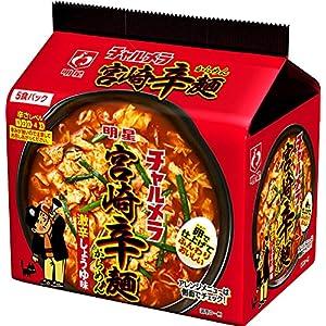 """明星 チャルメラ 宮崎辛麺 5食パック 480g ×6個"""""""
