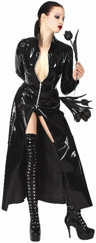 FUHOAHDD PVC-Umhang Coole Handsome Langer Trenchcoat Neutrale Männer und Frauen Nachtsängerin DS-Kostüm Catsuit B07MQ21LPZ Ich kann es nicht ablegen     | Modern Und Elegant In Der Mode