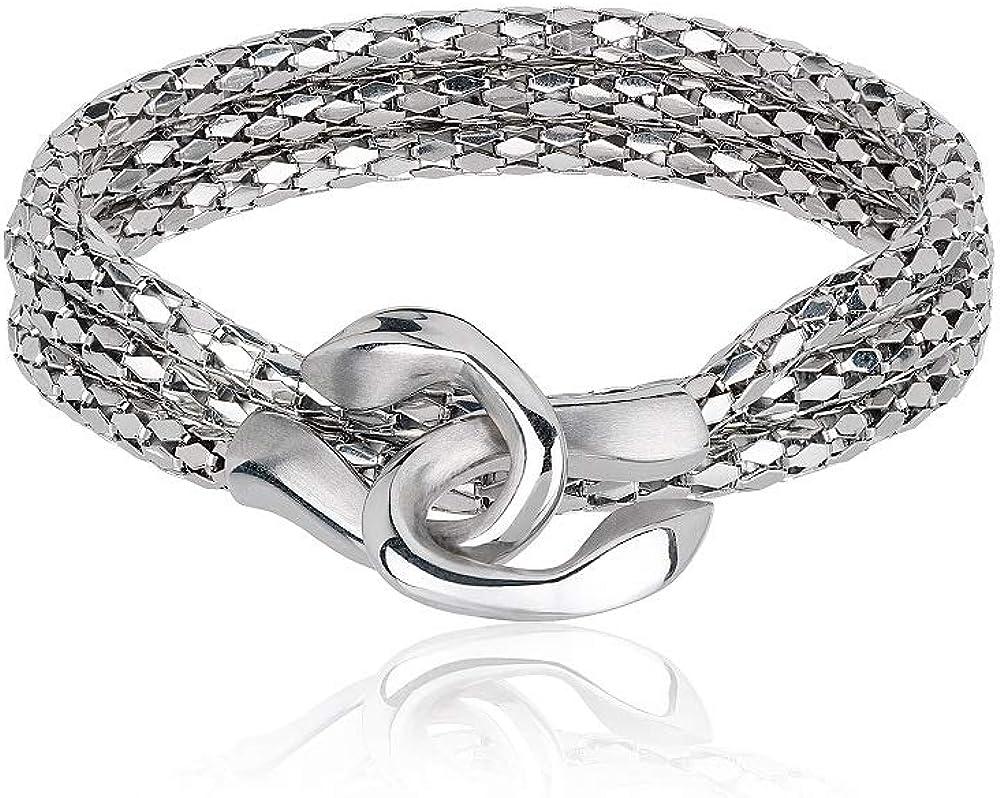 Breil collezione cobra, bracciale in acciaio inossidabile lucido TJ2268