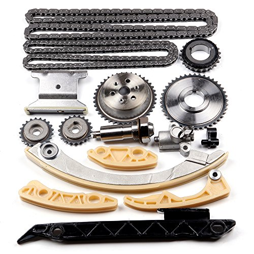 SCITOO 94201S Timing Chain Kit Tensioner Guide Rail Crank Sprocket Shaft Sprocket fits for Chevrolet Malibu 8-13 Equinox 10-15 Buick L4 2.0L 2.2L 2.4L