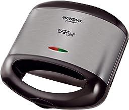 Sanduicheira Mondial, Inox Grill Premium, 127V, Preto, 800W - S-07