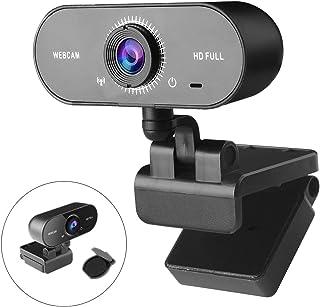 1080p Webcam met Microfoon Voor PC - THEGUS 120 ° brede Streamingwebcam met Gegevensbeschermingsklep, Ruisonderdrukkende M...