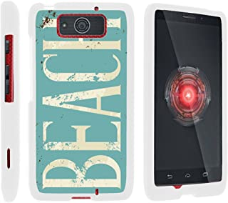 TurtleArmor   Compatible with Motorola Droid Maxx Case   Droid Ultra Case [Slim Duo] Fitted Ultra Slim Hard Cover Snap On Shell on White Beach - Beach Logo