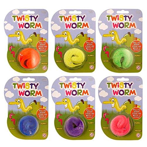 The Home Fusion Company Enfants Magic Blague Twisty Wiggly Worm Fête Remplissage Cadeaux