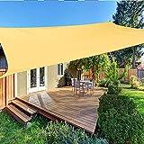 LIUNA Sun Shade Sail Canopy Patio Al Aire Libre Patio Pool Cubierta Net, 300d Impermeable Poliéster Plaza Rectángulo Shade Sail Jardín Terraza Tarjeta Natación Sombra Sombra Campi(Size:2X1.8M,Color:3)
