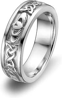 Sterling Silver ULS-6344 Ladies Wedding Claddagh Ring