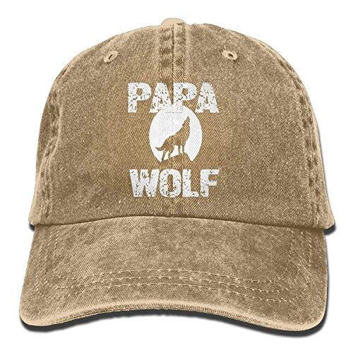 Hoswee Unisex Kappe/Baseballkappe, Papa Wolf Cotton Adjustable Cowboy Hat Baseball Caps For Man And Woman