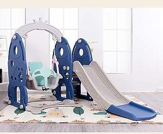 Dtcat Kids Garden Playground,tobogán Multifuncional Tres en uno,tobogán casero para niños @ Blue,Gimnasio de Actividades de Juego de jardín para niños pequeños