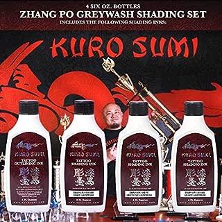 Kuro Sumi Zhang Po Greywash Shading Tattoo Ink 6 oz Set