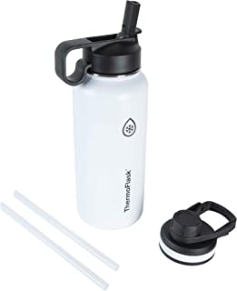 Thermoflask 50071 Double Stainless Steel Insulated Water Bottle, 32 oz, White
