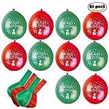 THE TWIDDLERS 50pcs Globos Helio Navidad Rojo Y Verde - Accesorio De Decoración...