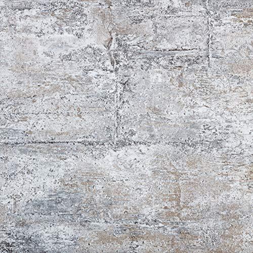 STILISTA® Vinyl Laminat in Steinoptik grau, 36 Fliesen a 457,2mm x 457,2mm = 7,5251 m², rutschfest, wasserfest, schwer entflammbar, schimmelbeständig