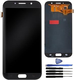 قطعة تبديل لأعداد رقمي شاشة تعمل باللمس لجهاز سامسونج جالاكسي A7 2017 A720 A720F، أدوات الإصلاح وواقي الشاشة. (أسود)