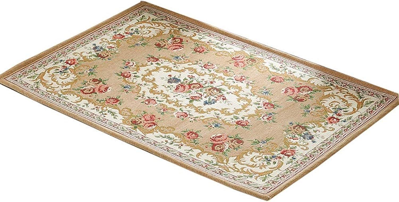 Door Mat Rectangular Door Mat Floor Living Room Bedroom Absorbent Non-Slip Mat Soft and Wearable (color   P, Size   100  150)