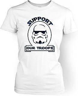 Apoyo a Nuestras Tropas de la Mujer Camiseta – Camiseta de Película de Cine, Televisión Y Bolas