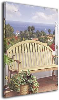 Zetena 風景 中庭 壁掛け式の装飾画 現代壁の絵 壁アート 木製スター 部屋飾り ウォールアート アートフレーム 壁絵 モダン インテリアアート