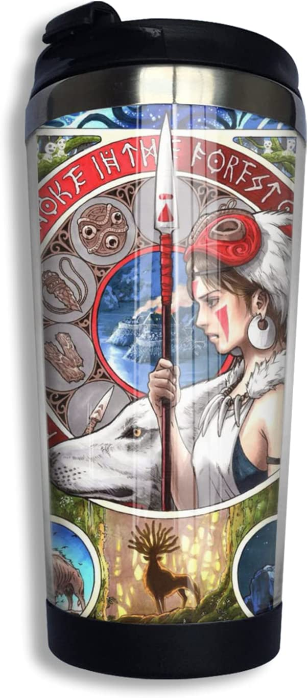 Princess Mononoke Anime Coffee Cup 3d Ranking TOP2 Funny Mug Print Co Free shipping anywhere in the nation Thermos