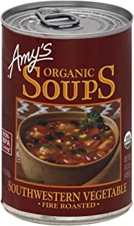 Amy's Organic Soup Fire Roasted Southwestern Vegetable 14.3 oz (Pack of 2)