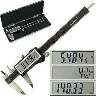 """iGaging IP54 Electronic Digital Caliper 0-6"""" Display Inch/Metric/Fractions Stainless Steel Body"""