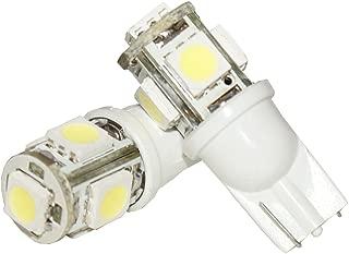 Rudra Automobiles RA-5SMDW 5 SMD 5050 LED T10 Parking Indicator Socket Light (White, 12V)