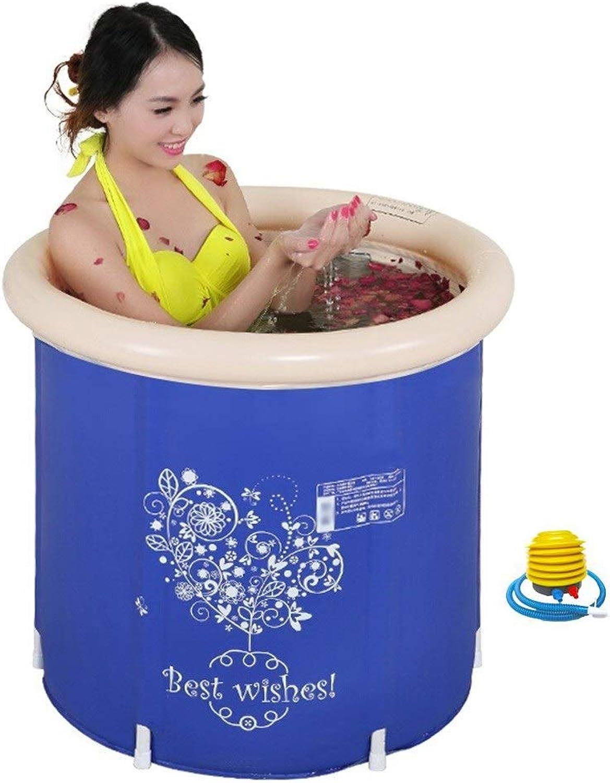Aufblasbare Badewanne Erwachsene Falten Bad Barrel Verdickung Baby Bad Barrel Kinder Bad Barrel Wassersparen (Farbe   A)