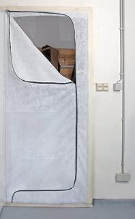 Staubschutztür mit Durchfahrt  Klebeband 110 x 220 cm Schmutzschleuse Bautür Staub Tür