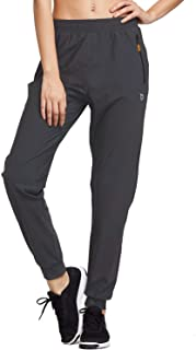 Baleaf Women's Athletic Joggers Pants Dry Fit Running Gym Pants Zipper Pockets Sports Pants