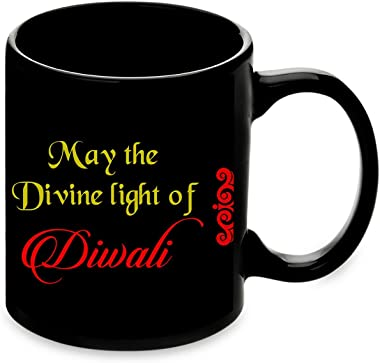 You Light Up My Life with Special Moments Happy Diwali 2 Diyas, Quotation Photo Frame & Mug Combo