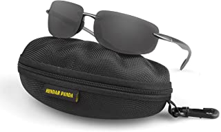 Rimless Sport Wrap Sunglasses Men and Women Superlight Glasses with Zipper case-no Distortion and Board Vision HP5002