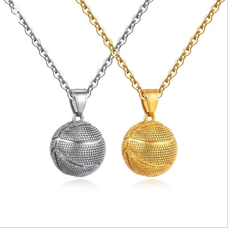 Couple Necklace Basketball Pendant Sports Jewelry Men and Women Pendant Jewelry